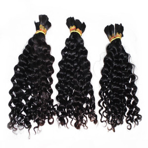 Factory Direct Loose Deep Wave Bulk Hair 3 Bundles lot Weave Good Hair Braid Peruvian Human Hair