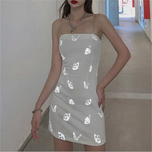 20 Summer New Products Women's Stars Same Paragraph Butterfly Reflective Hot Flower Sling Dress