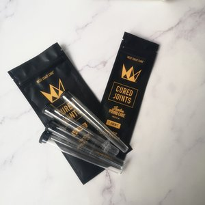 West Coast Cure 1PCS 3PCS CURED JOINTS BAG +PLASTIC TUBES Packaging 2020 moonrock Preroll Pre-rolled tube packaging dgh