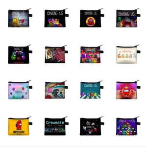 Jogo entre nós carteira Carteira Bolsa Cartão Titular Do Zíper Carteiras Mulheres Bolsa Kids Bonito dos Desenhos Animados Anime Bolsa Totes De Armazenamento Keys Mini Bags E121410