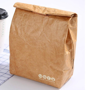 Environmental Kraft Paper Aluminum Film Lunch-box Outdoors Picnic Heat Preservation Ice Storage Bag For Kitchen