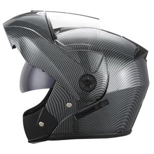 Casques de moto Helmets Dayu Dot Flip Up Modular Dual Lens Racing Motocross Safe Casco Capacete Casque Casque Cascos Para