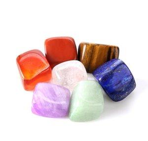 Edelsteine Set Dekoration Heilung Kristall Home Stein Natürliche Steine 7 stücke Reiki Kristalle Zubehör RRA2812 Natürliches Chakra Palm Sqcwj