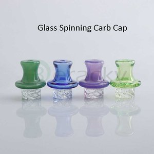DHL!!! New Glass Spinning UFO Cap 25mmOD Glass Carb Cap Heady Carb Caps For Quartz Banger Nails Glass Water Pipes Dab Rigs Bongs