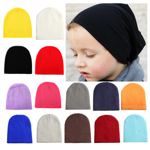 New Baby Wool Knitted Hat Solid Color Versatile Autumn And Winter Warm Ear Protection Baby Hat