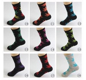 38 Colors Christmas Plantlife Socks For Men Women High Quality Cotton Socks Skateboard Hiphop Maple Leaf Sport Socks Wholesale FY7301