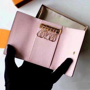 2020 all'ingrosso borsa portachiavi uomini di alta qualità in pelle multicolore corto portafoglio Lady sei portachiavi portachiavi uomini uomo classico cerniera tasca catena tasca