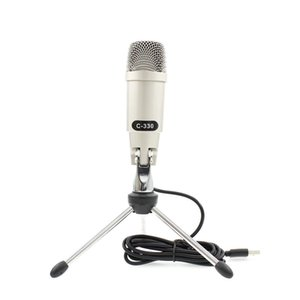 C-330 USB Microphone For Computer Professional Wired Studio Condenser Mic For Karaoke Pc Video Recording With Stand Tripod