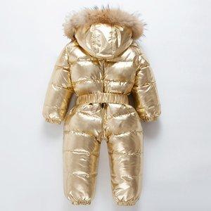 1111 Marca OrangeMom Rusia Invierno -30 Grados Down Jacke Children Ropa de piel de mapache grande Niños Niñas Niñas Cálidas Cortavientos RPERS 201203