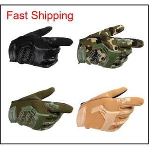 Hot Seal Tactics Full Finger Super Wear-Resistant Gloves Men'S Fighting Training Cycling Specials Forces Non-Slip Gloves Mdeqg