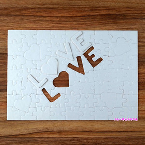 Sublimation Blank Jigsaw Puzzle A4 LOVE Pearl Light White Print Cardboard Heart Shaped Children Adult Benefit Intelligence 2 4xj M2