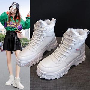 Un one Yona 2020 Winter Dernier Dernier Gardez des bottes de haute qualité de haute qualité chaudes de haute qualité Hauts talons bas bottes de peluche cross liées