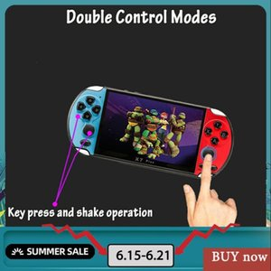 """NEW 32 64 128 Bit 5.1"""" LCD X7 Plus Double Rocker 8G Handheld Retro Game Console Video MP5 over 1,000 Games Save Game Progress"""
