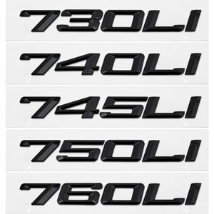 Оформление автомобилей наклейка для BMW 7 серии 730Li 740Li 745Li 750Li 760Li E38 F01 E23 E65 E66 F03 задний ботинок DIY наклейка хрома эмблема