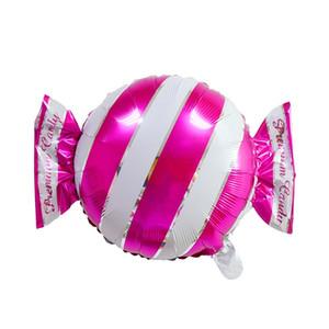 Прекрасные полосы точек сладкие конфеты формы алюминиевая пленка шар свадьба свадьба день рождения декор детские игрушечные фабрики оптом PPD3880