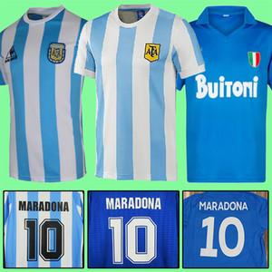 레트로 1978 1986 1996 1994 1998 2006 아르헨티나 디에고 Maradona 축구 유니폼 1987 1988 나폴리 홈 멀리 축구 78 86 셔츠 빈티지 클래식