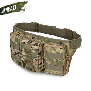 Tactical Waterproof Men Waist Pack Hiking nylon Waist Bag Outdoor Army Military Hunting Sports Climbing Camping Waist Pockets Q1201