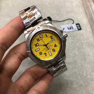 2020 U1 завод Автоматические часы Мужчины супер океан желтый циферблат 316 нержавеющая полоса механическая 42 мм наручные часы бесплатная доставка