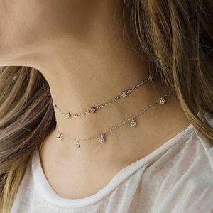Garanti 925 Ayar Gümüş Takı Yüksek Kalite Sevimli Güneş Charm Link Zincir Gerdanlık Collarbone Kadınlar Elegance Kolye Valance's Günü Hediyesi