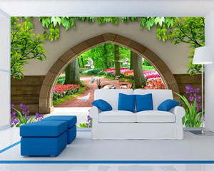 3d Photo Wallpaper Mural Beautiful Wooded Garden Scenery Home Decor Living Room Bedroom Wallcovering HD 3d Wallpaper