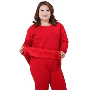 Pijama de inverno Plus 5xl Engrossen Manter Warm Plush Thermal Underwear Pijamas Conjuntos das Mulheres Mujer Tamanho Grande 4xL 130KG