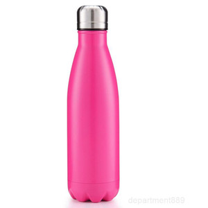 Cola Shaped Double Layers Vacuum Stainless Steel 500ML Creative Cups Coke Water Bowling Bottles DHD629