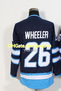Top Fan Shop Boutique en ligne Jet Alternate Pro Sports Hockey Jerseys, 55 Scheifele 26 Wheeler 33 Byfuglien 37 Personnalité Hellebuycn Personnalité Hockey Wear