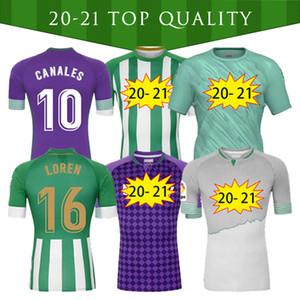 2020 21 Real Betis Soccer Jersey 17 Joaquin 10 Canales Men + Kids Kit Camiseta de Fútbol Juanmi Fekir Bartra B.iglesias Camiseta de Futebol