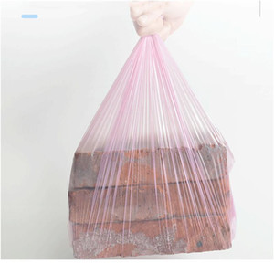 High Quality Trash Bags Garbage Bag Storage Kitchen Garbage Box 15pcs roll Household Disposable Pe Drawstring bbyPNQ