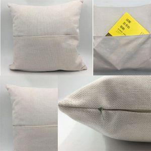 2 Sizes Cushion Cover Linen Solid Color Sublimation Blank Pillow Case Home Textiles Decor Comfortable Hot Sale 6 2yj M2