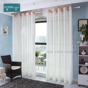Curtain & Drapes Decorative Modern Natural White Linen Striped Drape Home Sheer Window Curtains Rod Pocket Grommet Top For Living Room Bedro