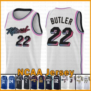 Jimmy 22 Butler Miami\rHeat\rNew basketball Jersey 2020 2021 New Heats Kawhi Ja 12 Morant 2 Leonard Luka Zion 1 Williamson 77 Doncic