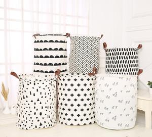 INS Laundry Baskets Kids Toys 스토리지 바구니 Foldable 더러운 의류 양동이 방수 세탁소 가방 폴카 도트 선인장 55 스타일 YWY2470