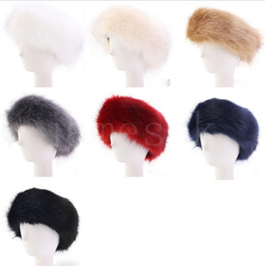 Womens Faux Fur Winter Headband Women Luxurious Fashion Head Wrap Plush Earmuffs Cover Hair Accessories DB274