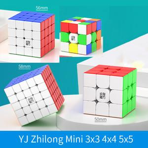 Yj Zhilong Mini M 3x3 4x4 5x5 Магнитная скорость CUBE 4x4x4 5x5x5 Профессиональный конкурс Волшебные кубики 3x3x3 Пазлы для детей подарки J1204