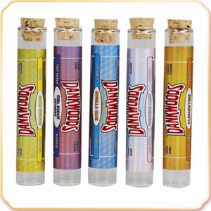 Dankwoods Boş Cam Tüp Ahşap Mantar İpuçları Kartuşları Kuru Herb Bitkisel Ham Ön Rulo Çıkartmalar Packwoods Moonrock E Sigara Buhar Sıcak Satış