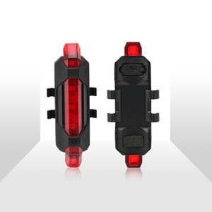 Bike Bicycle light LED Bicycle Led Light USB Rechargeable Rear Lights Taillight Rear Tail Safety Warning Cycling Portable Light