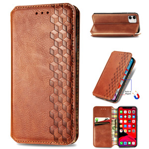 For iPhone 11-Pro-Max Phone Case TPU PU Leather Anti-slip Surface Magnetic Flip Bucklet Foldable Bracket (Model:iPhone11Pro-Max)