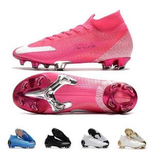 더블 박스 망 FG 클리트 Superfly 엘리트 360 Mbappe Rosa Neymar 높은 발목 야외 축구 신발 호나우두 Cr7 Mercurial Football Crampons Boot