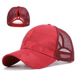 Women Lightweight Hip Hop Sports Vacation Baseball Cap Mesh Snapback Camouflage Fashion Sunshade Summer Outdoor1