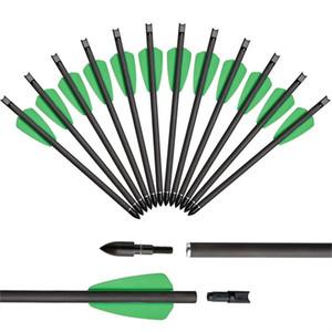 Plume verte 7,5 pouces pure carbone arbalète arborescence arrow arc de chasse et arrow arrow petit boulon d'acier arrow accessoires de tir à l'arc