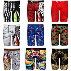 Mens Fashion Swimwear Quick Dry Breathable Boxers Men Underwear Shark Print Short Pants Sports Beach Swimsuit Summer Shorts