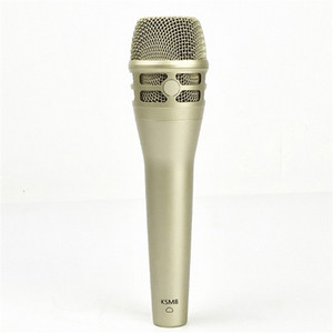 Top Quality wired dynamic cardioid KSM8 Professional Live Vocals Dynamic Wired Microphone Karaoke Microfono Mike Mic