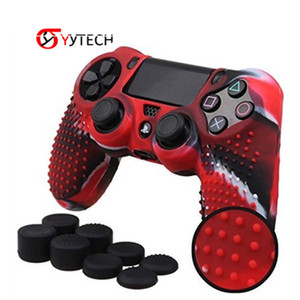 Hand Silicone Sleeve Rocker Cap 8 Thumbsticks Caps With Anti-Slip Protective Silicone Cover Case for PS4 Playstation 4