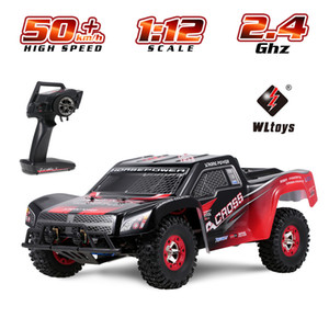 Wltoys 12423 RC Car 1 12 Scale 2.  h High Speed Racing Car Short Course Truck Remote Control Vehicle RTR Toys for Kids LJ200919