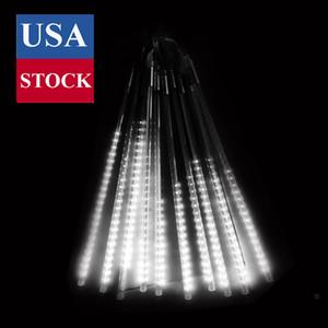 Noel Işık Meteor Işıkları LED Açık Noel Işıkları Buz Tüpleri 50 cm 10 adet Tüp LED Peri Işık Dizeleri Renkli Neon AC85-265V