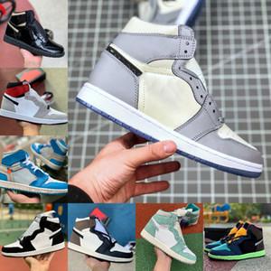 Air jordan 1 Dior x Retro off Jordans Nike white High 1 1s Scarpe da pallacanestro Uomo Donna Varsity Rosso LAMPADINA Blu Fearless UNC Patent Bianco NERO ROYAL