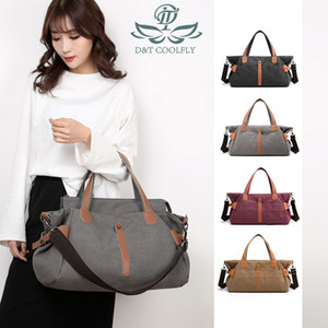 2020 New Fashion Canvas Women Casual Luxury Shoulder Bags High Capacity Designer Quality Laptop Purse Pocket Handbags Q1129