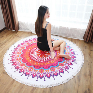 Beach Towel Microfiber Tassel Yoga Mat Carpet Tapete Doormat Tapestry Indian Mandala Blankets Bathroom Carpet Camping Mattress