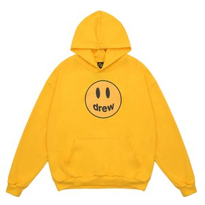 And Smile SS21 Sleeve Printing Sweaters House Quality Designers Drew Mens Hoodies Top Long Mens Womens Hoodie S-XL Mkvvc